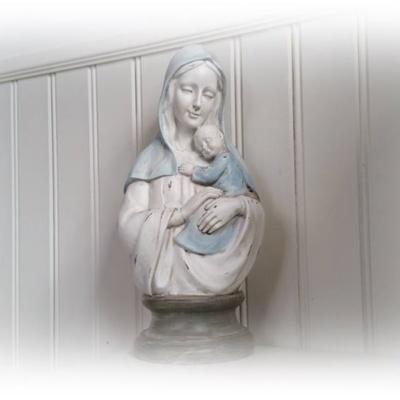 Maria med barn