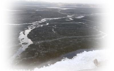 Snart är isen på sjön borta..