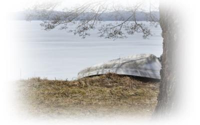 Fortfarande is på Ören..