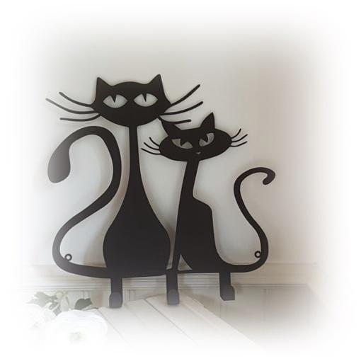 Svarta katter med krokar