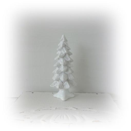 Den vita skogen för juldekorationen