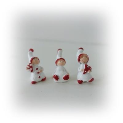 Röd vita små mini barn med luva