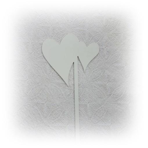 hjärta på stick