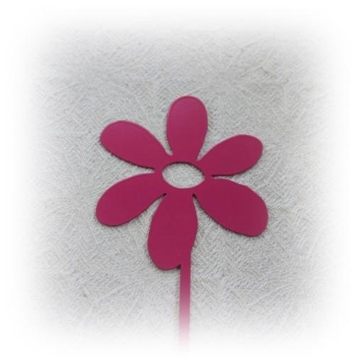 Blomma på stick