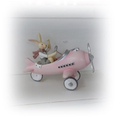 Påskhare i flygplan