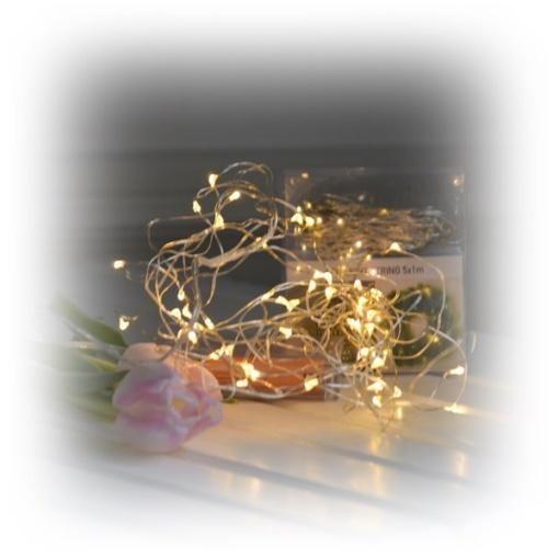 Ljusslinga med många små lampor