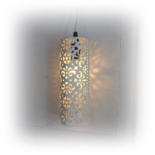 plåtlampa med mönster