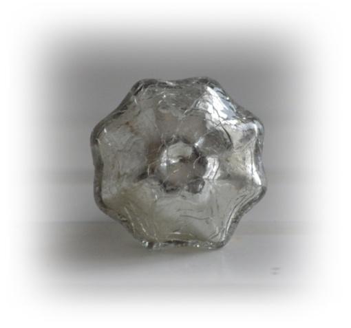 Krackelerad silver knopp