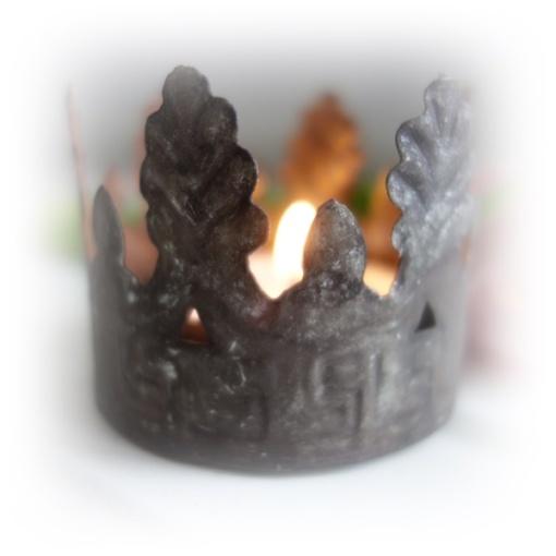 krona med värmeljus