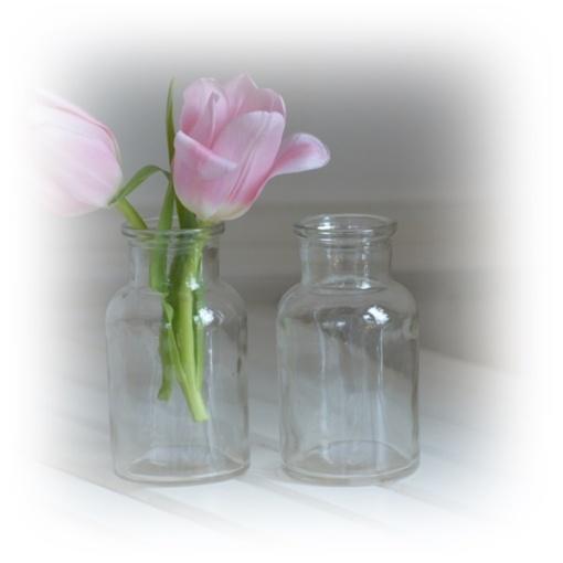 Blomvas vas flaska glasflaska