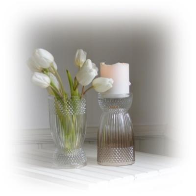 ljusstake blomvas glaskruka