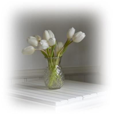 blomvas glasvas mönstrad vas